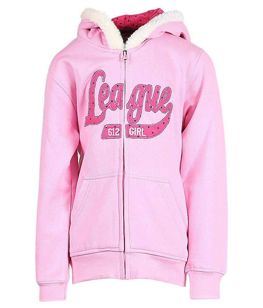 612 League Pink Hooded Zipper Sweatshirt