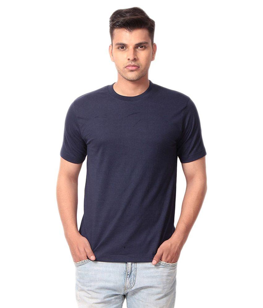 Aj Garments Black Cotton Blend T-shirt