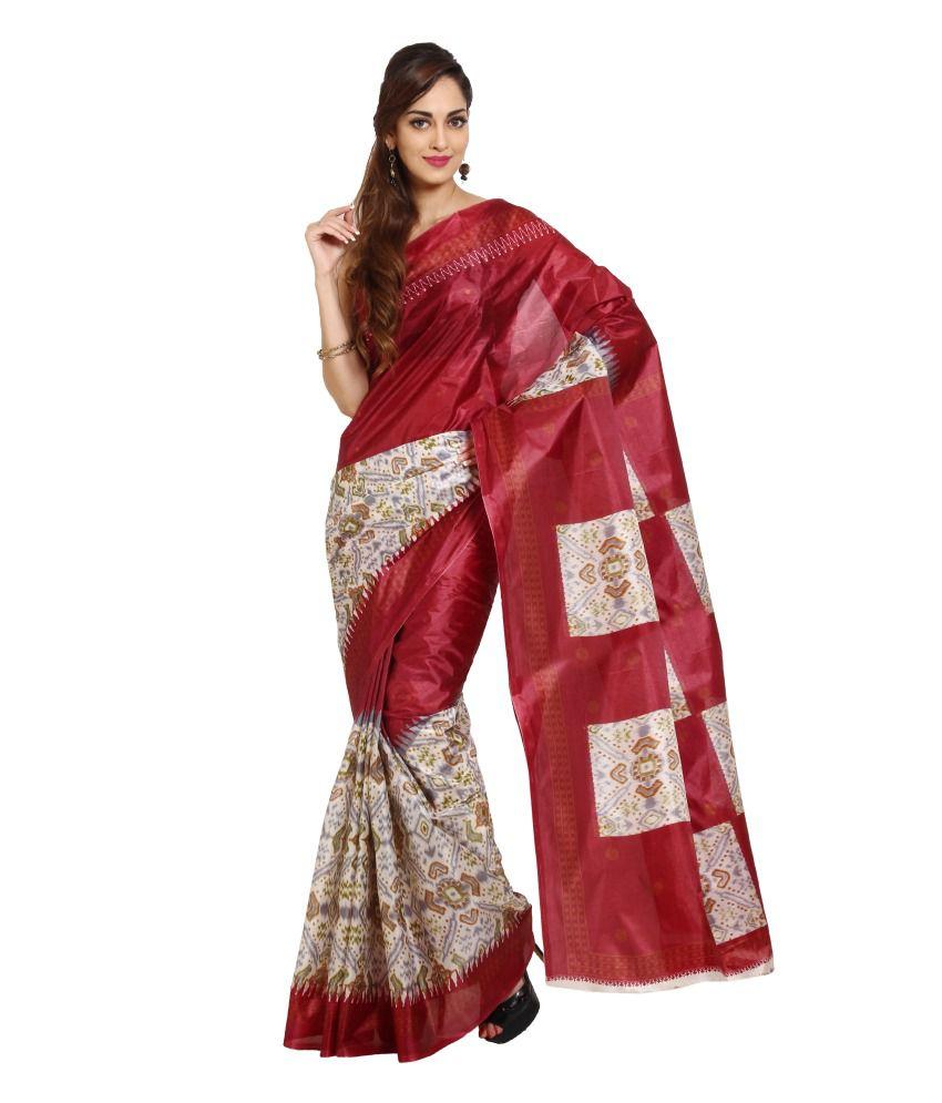 Parchayee Red Art Silk Saree