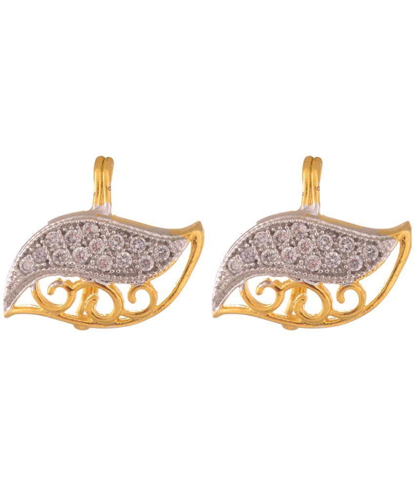 Sixmeter Jewels Golden Alloy Drop Earrings