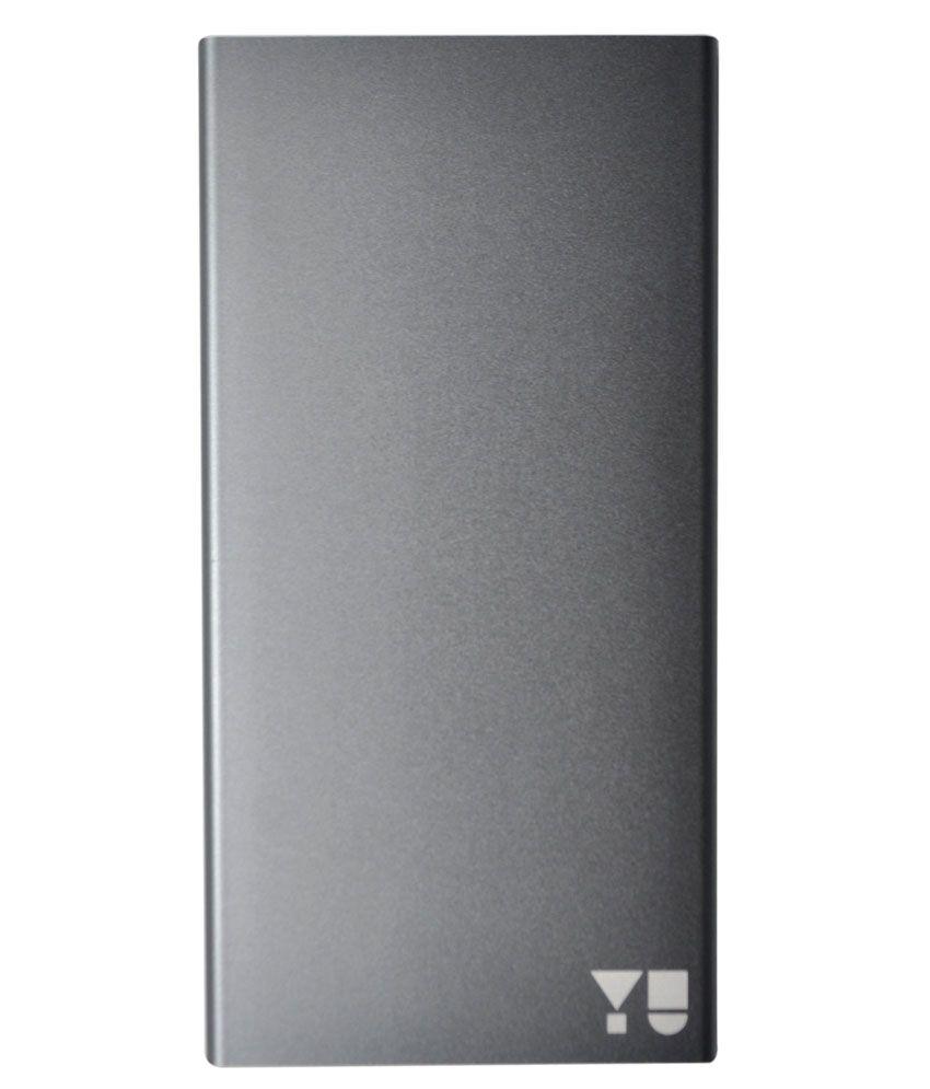 YU JYUICE 10000 mAh Power Bank – Grey Color