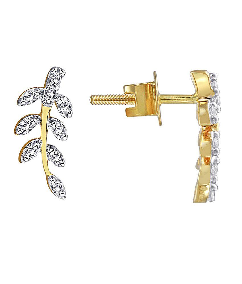 Asmi Shraddha Kapoor 18 Kt Gold & Diamond Contemporary Stud Earrings