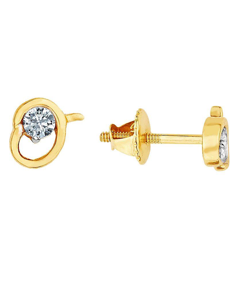 Asmi Shraddha Kapoor 18 Kt Gold & Diamond Stud Earrings