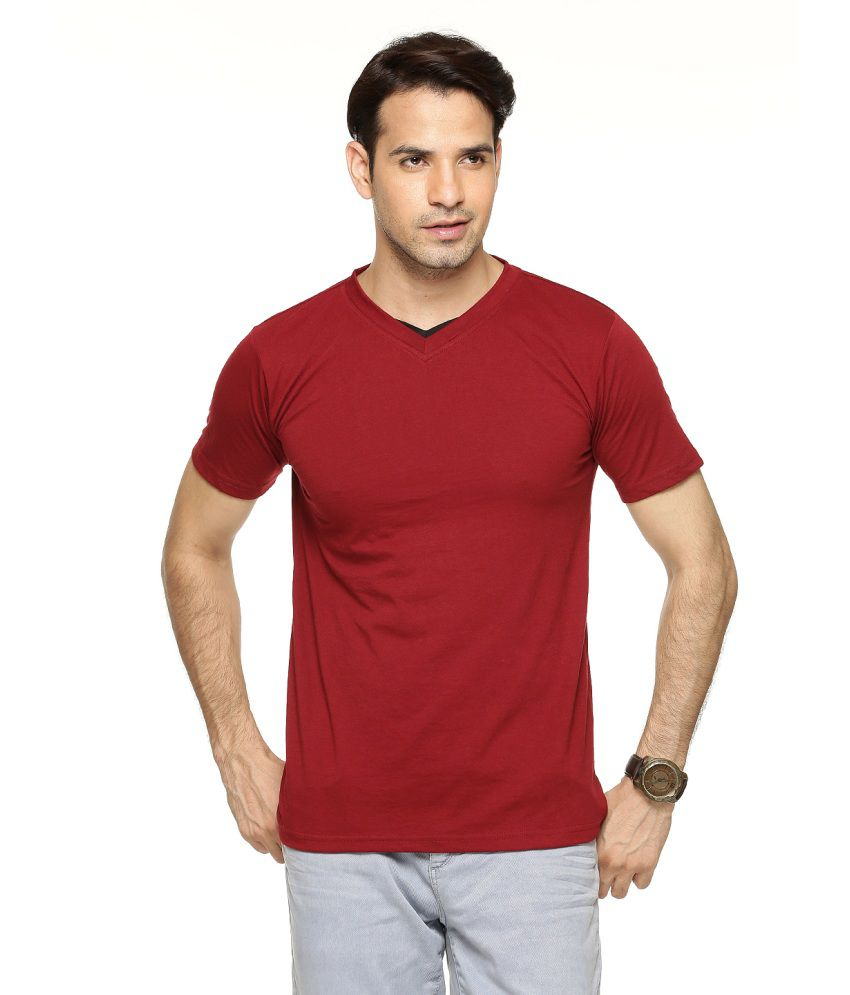 Being Crazy Solid Men'S V-Neck T-Shirt
