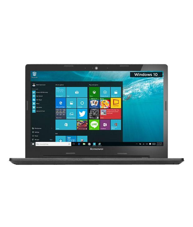 Lenovo G50-80 Notebook (80E502UQIN) (5th Gen Intel Core i3- 4GB RAM- 1TB HDD- 39.62 cm (15.6)- Windows 10) (Black)