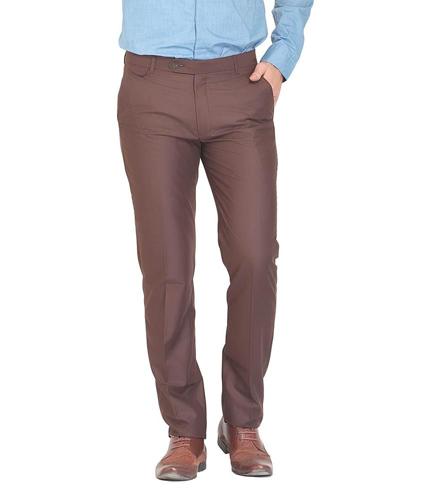 Nattg Brown Slim Fit Trousers