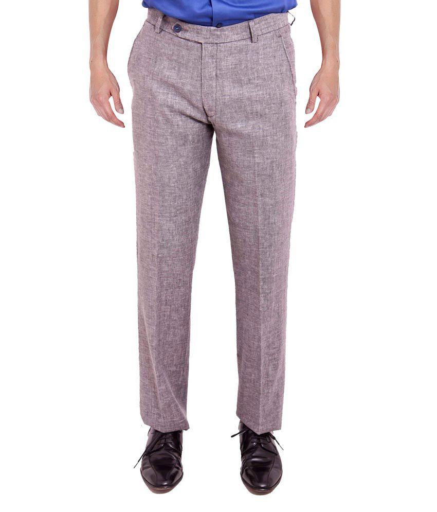 Nattg Grey Slim Fit Trousers