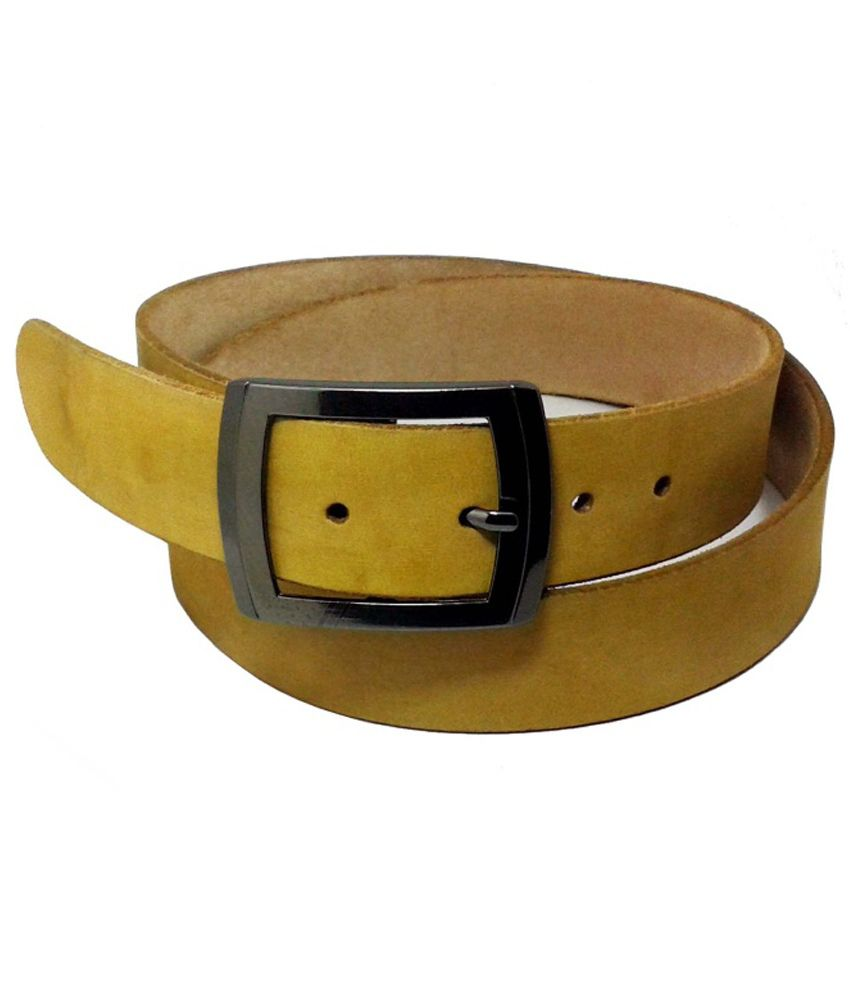 Sanshul Enterprises Yellow Casual Single Belt For Men