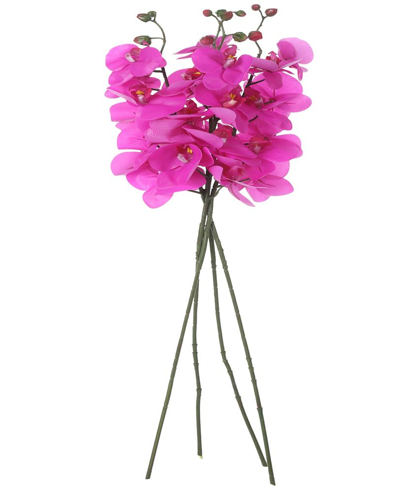 Uberlyfe Real Touch Real Look 7 Artificial Flowers Phalaenopsis