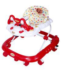 EZ' PLAYMATES BABY WALKER RED