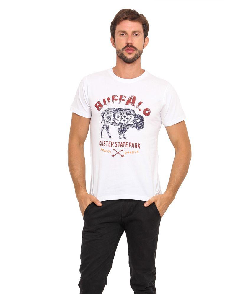 Americania White Cotton T-Shirt