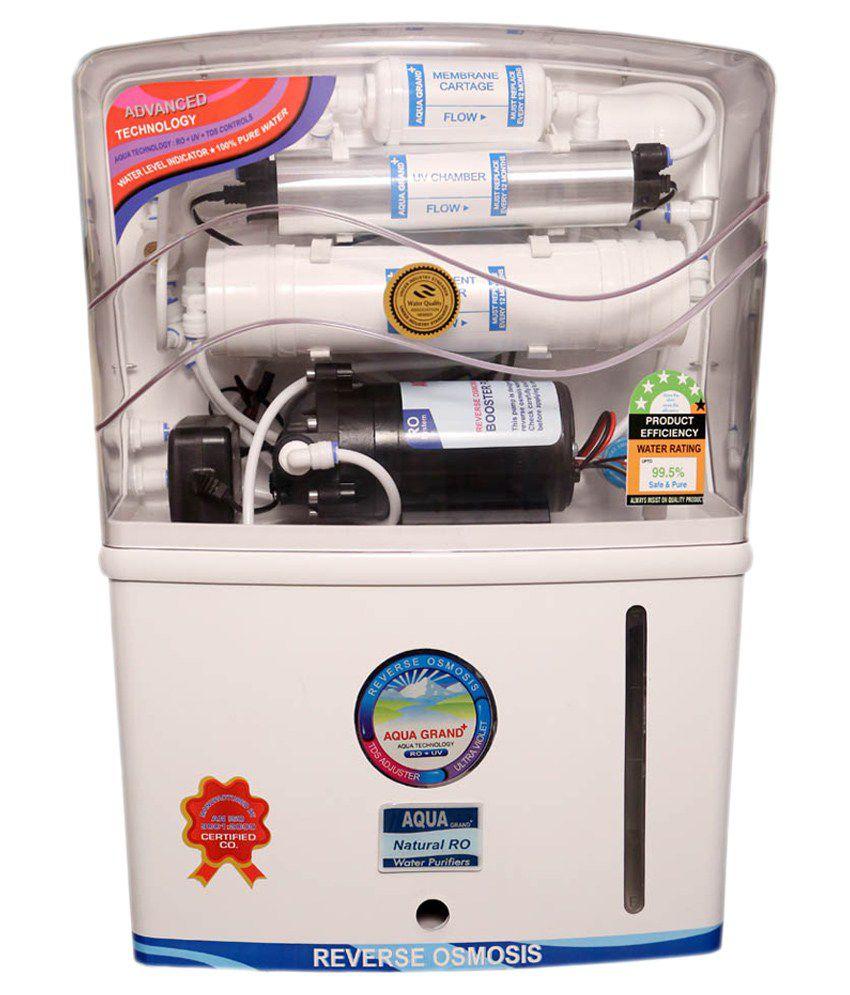 Aqua 12 Ltr Grand Plus Ro+uv+uf+tds Water Purifiers