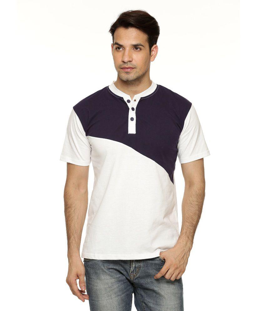 Being Crazy Solid Men'S Henley T-Shirt