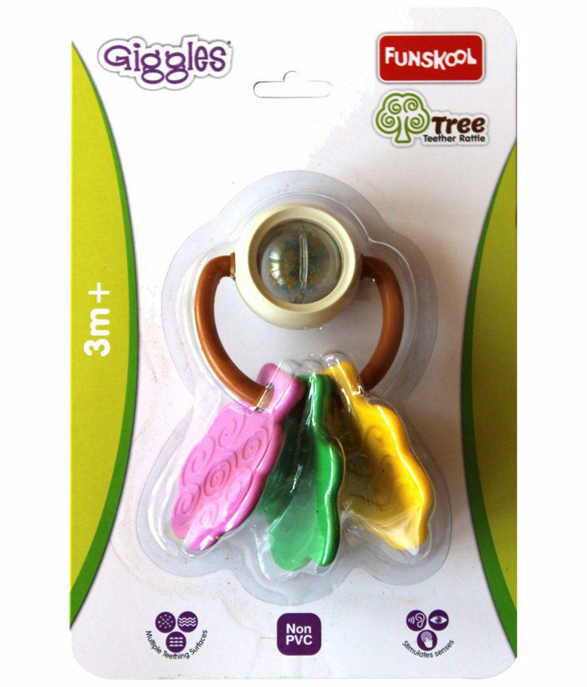 Giggles Multicoloured Tree Teether Rattle