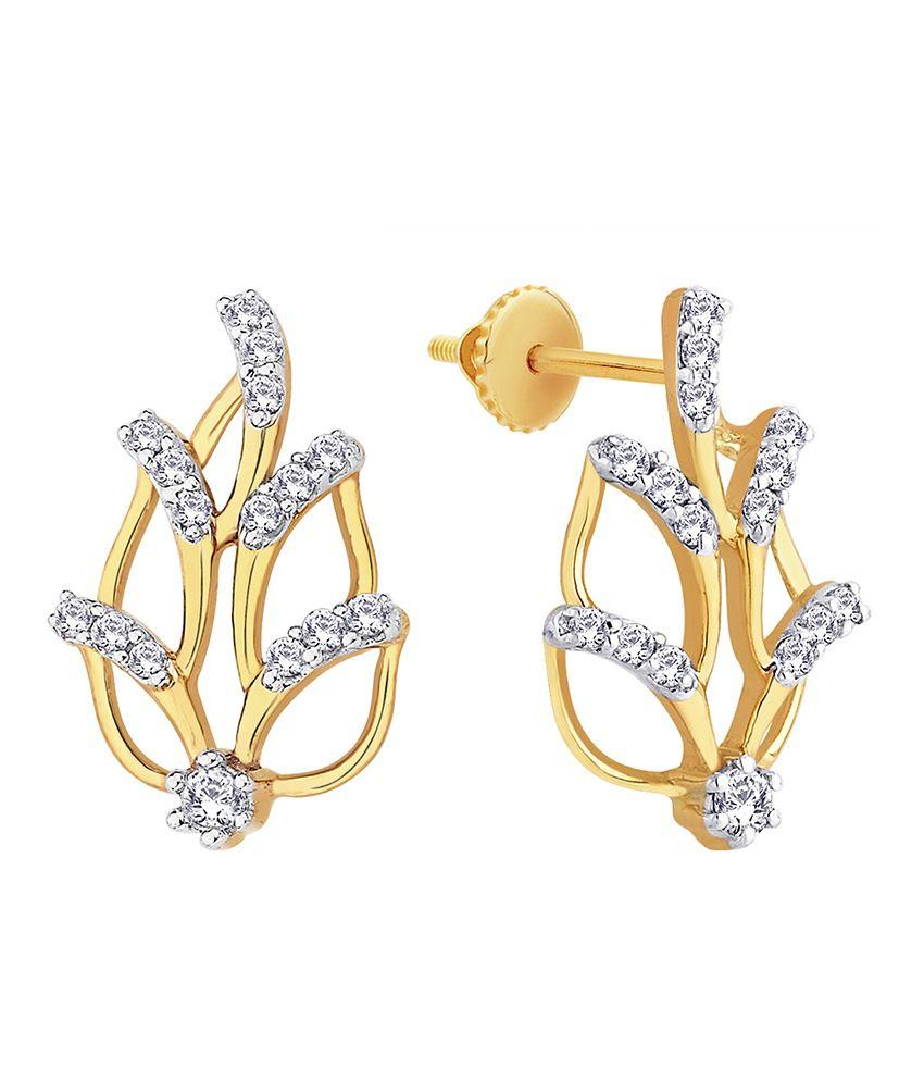 Gili Shraddha Kapoor 18 Kt Gold & Diamond Floral Stud Earrings