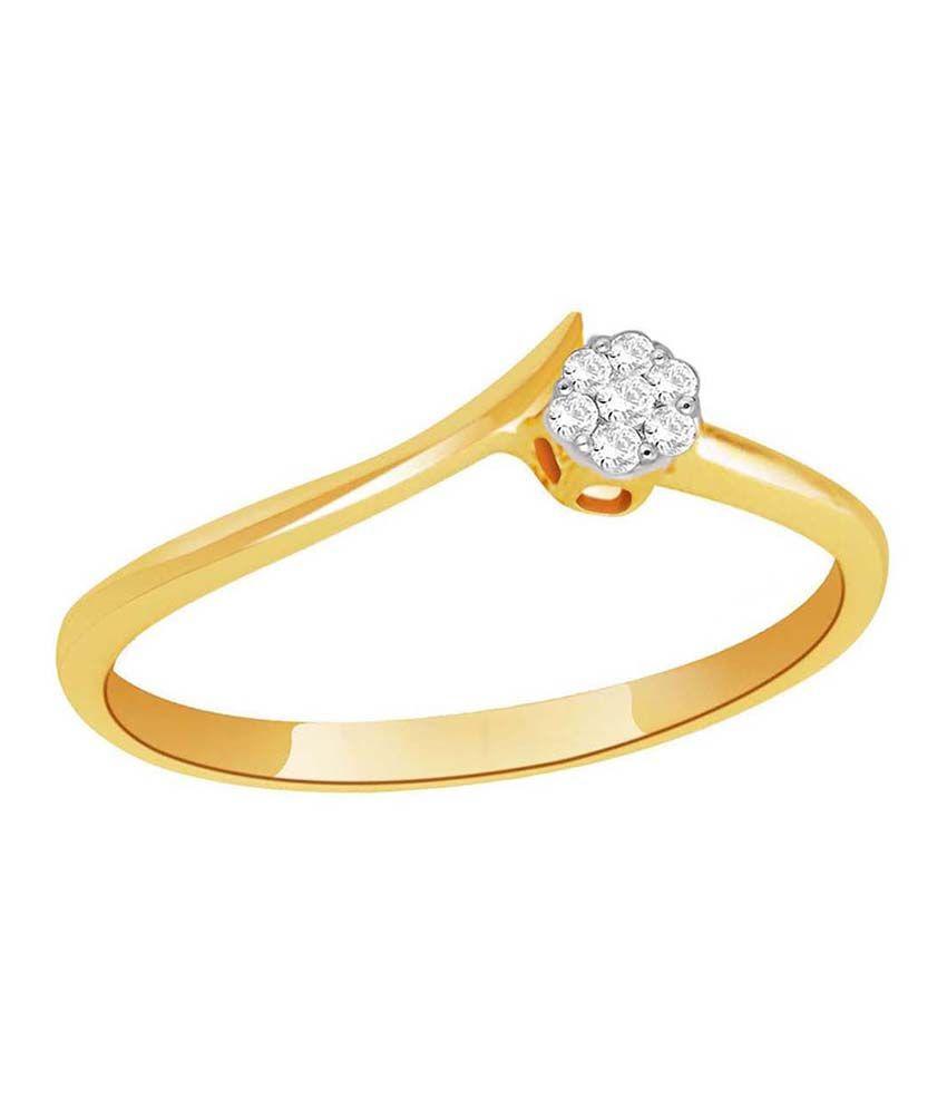 Gili Shraddha Kapoor 18 Kt Gold & Diamond Contemporary Ring