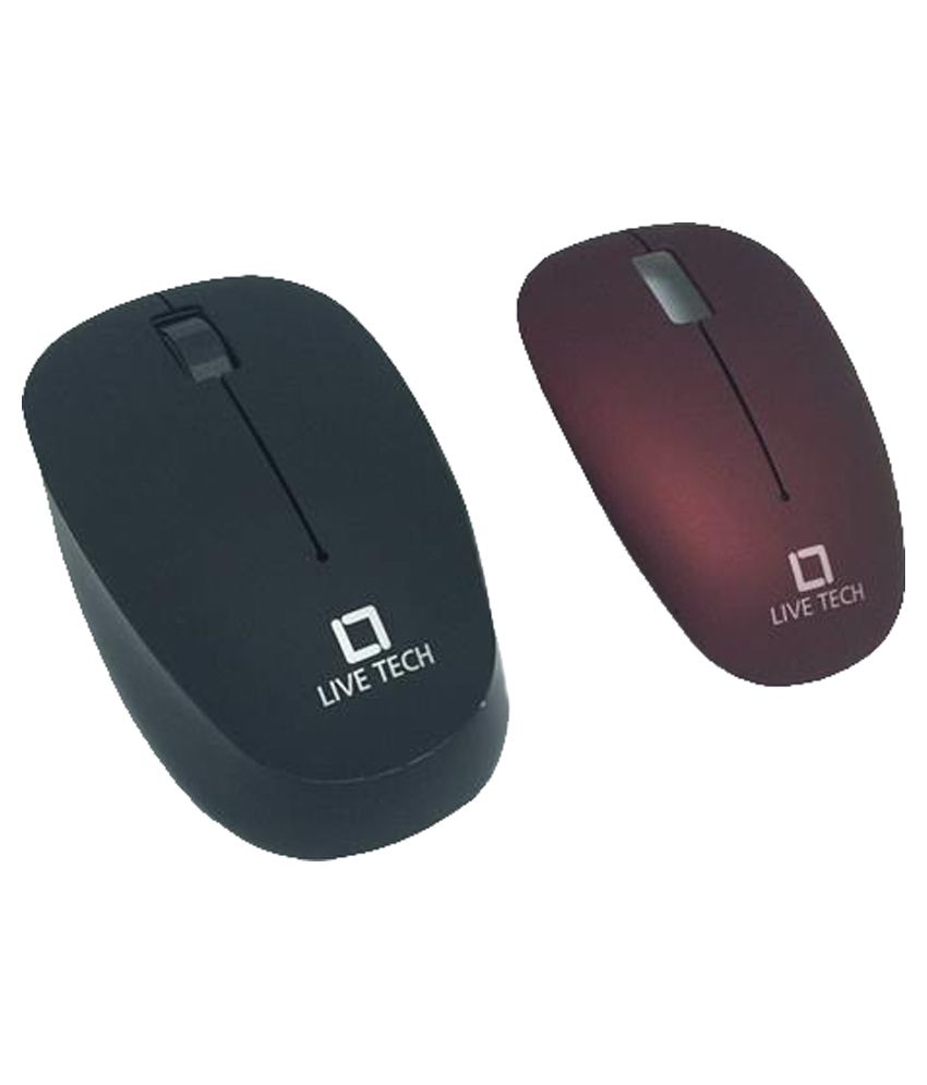 Live Tech MSW07 Wireless Mouse Black and Red