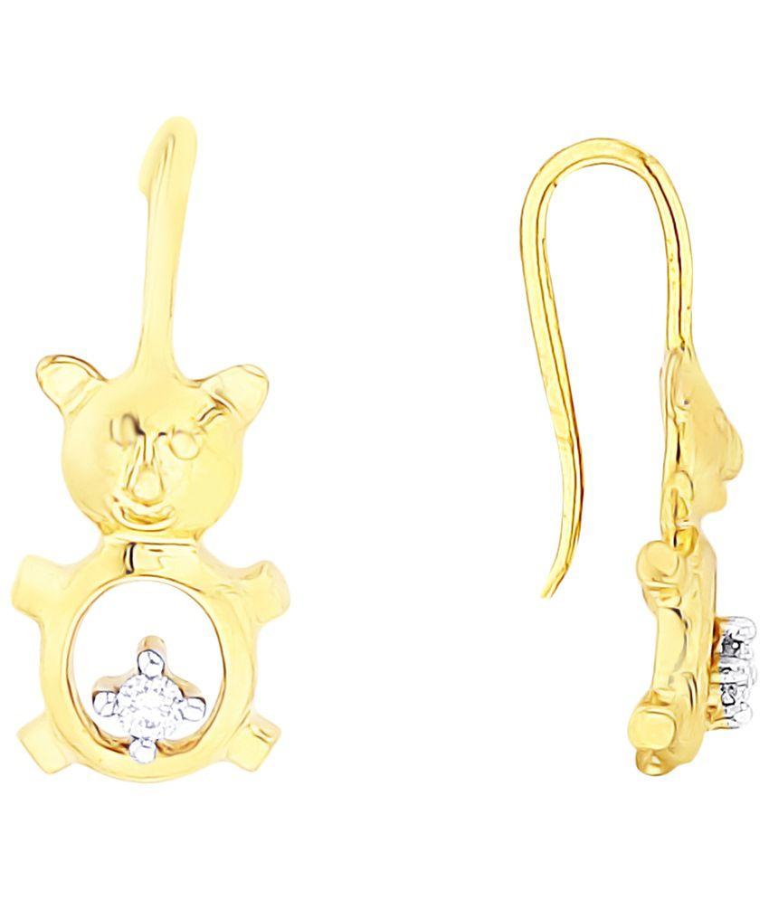 Asmi 18 Kt Gold & Diamond Contemporary Drop Earrings