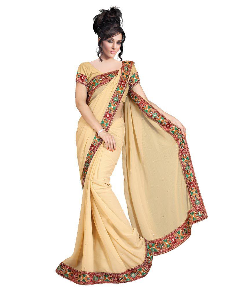 Chiffon sarees online shopping india