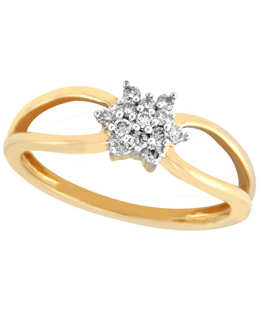 Nirvana 18 Kt Gold & Diamond Floral Ring