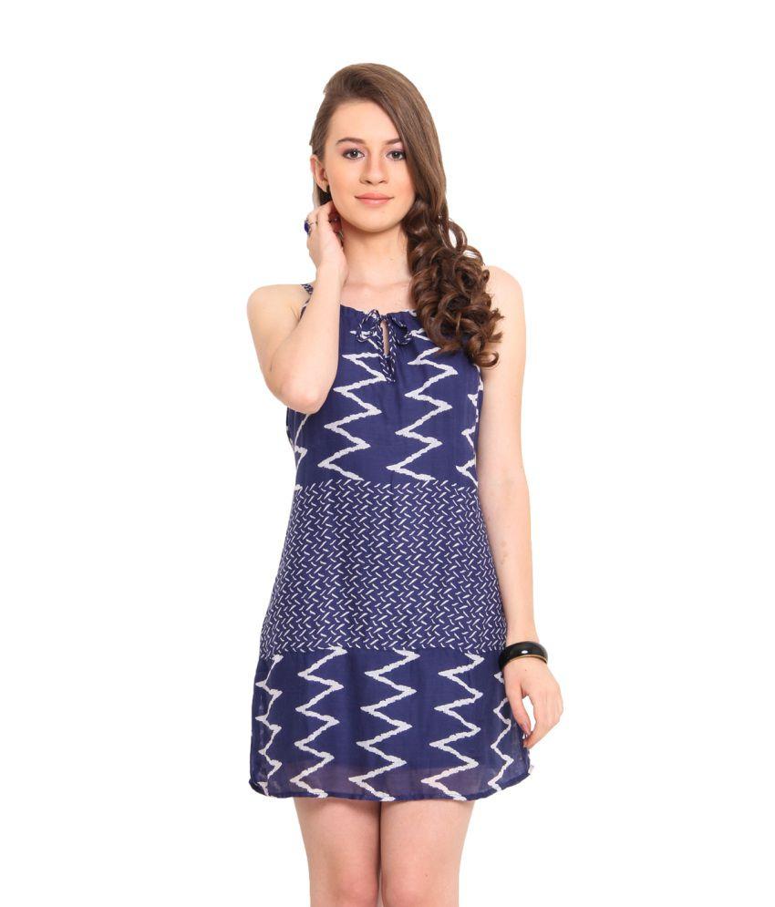 Nvl Blue Viscose Dresses