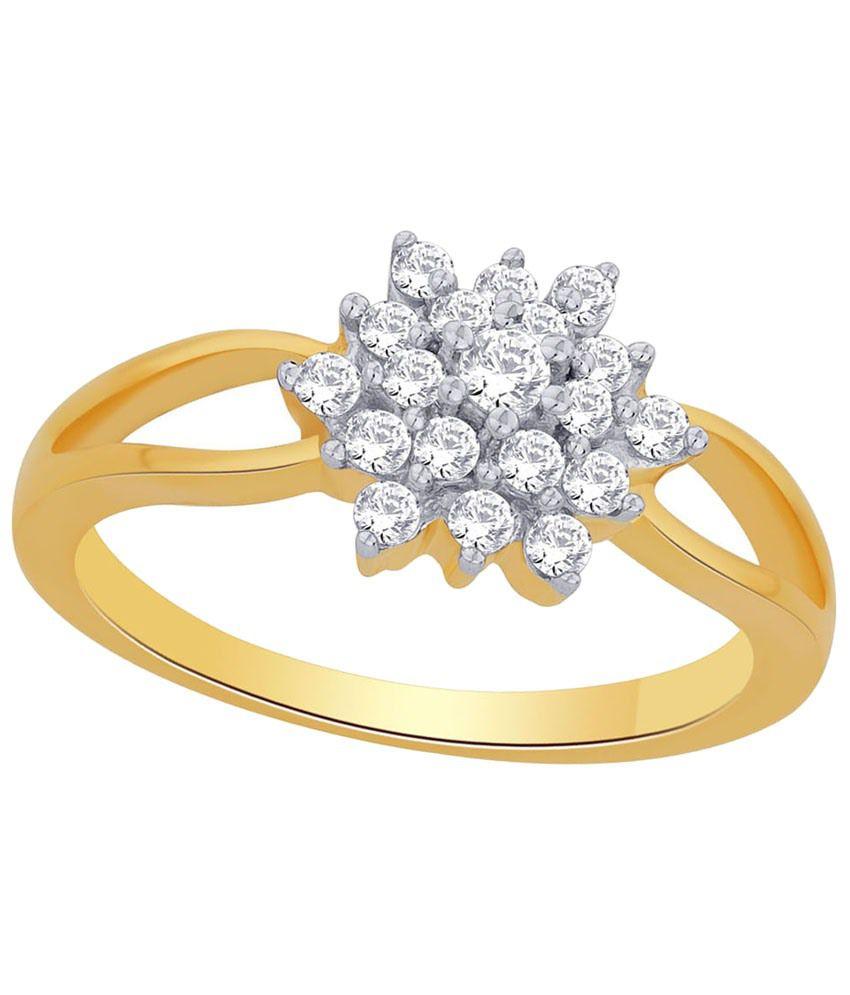 Parineeta 18 Kt Gold & Diamond Floral Ring