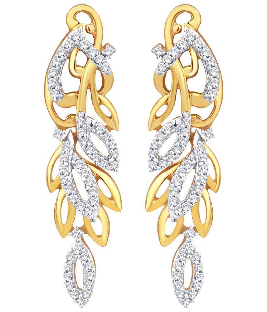 Sangini Contemporary 18 Kt Gold & Diamond Stud Earrings