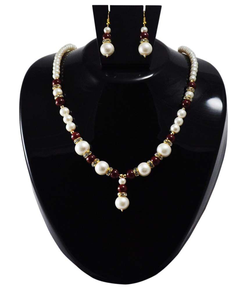 Rajlaxmi Multicolor Pearls Necklace & Set
