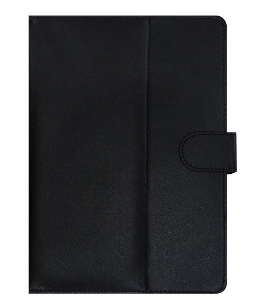 Acm Leather Flip Cover For Tescom Bolt 3g - Black