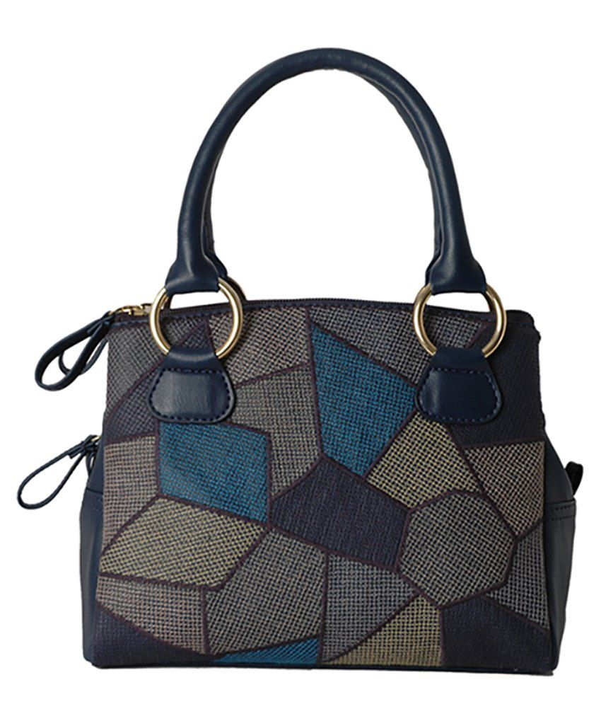 Baggit Bisleri Kozi Blue Satchel Bag