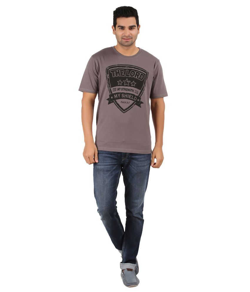 JCVC Grey 100 Percent Cotton T-Shirt