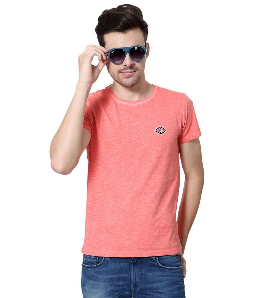 Allen Solly Peach Casual T Shirt