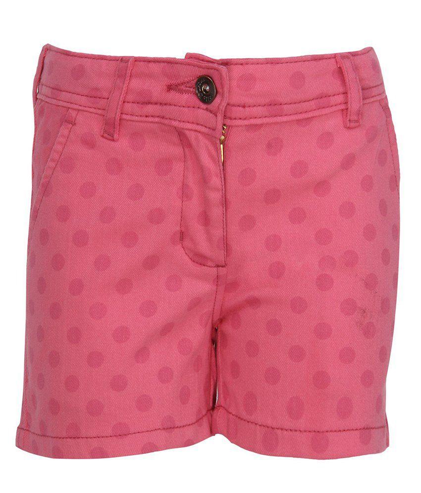 Bells & Whistles Pink Polka Dot Printed Shorts