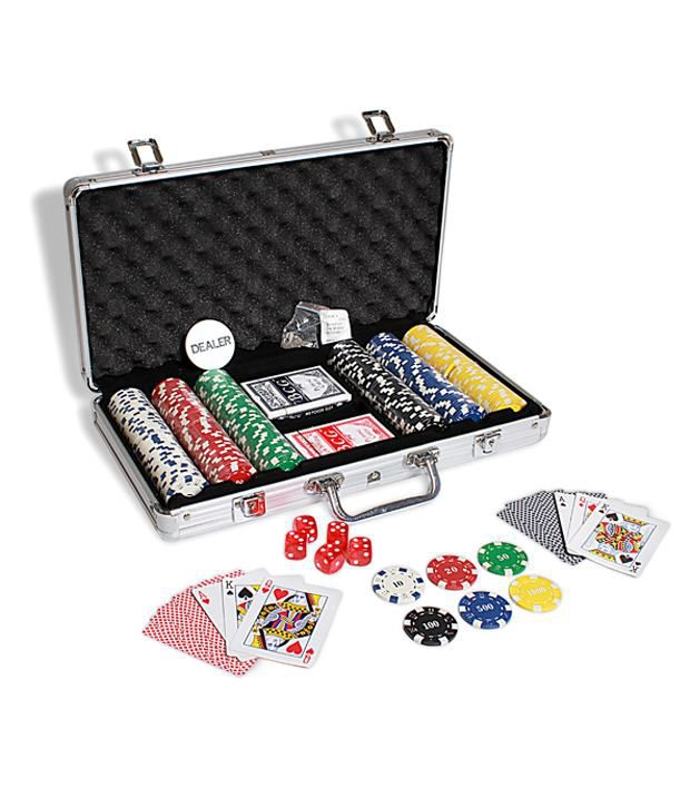 Casinoite 300 Diced Poker Chips Set & Freebie: 2 Decks of Fournier Playing Cards