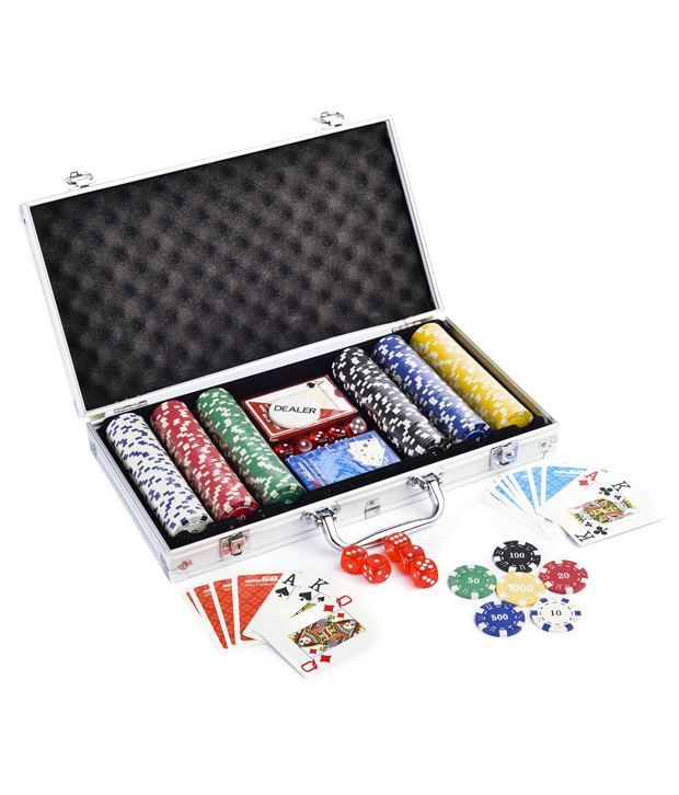 Casinoite Adda52 300 Pcs Poker Chips Set & Freebie: 2 Decks of Fournier Playing Cards