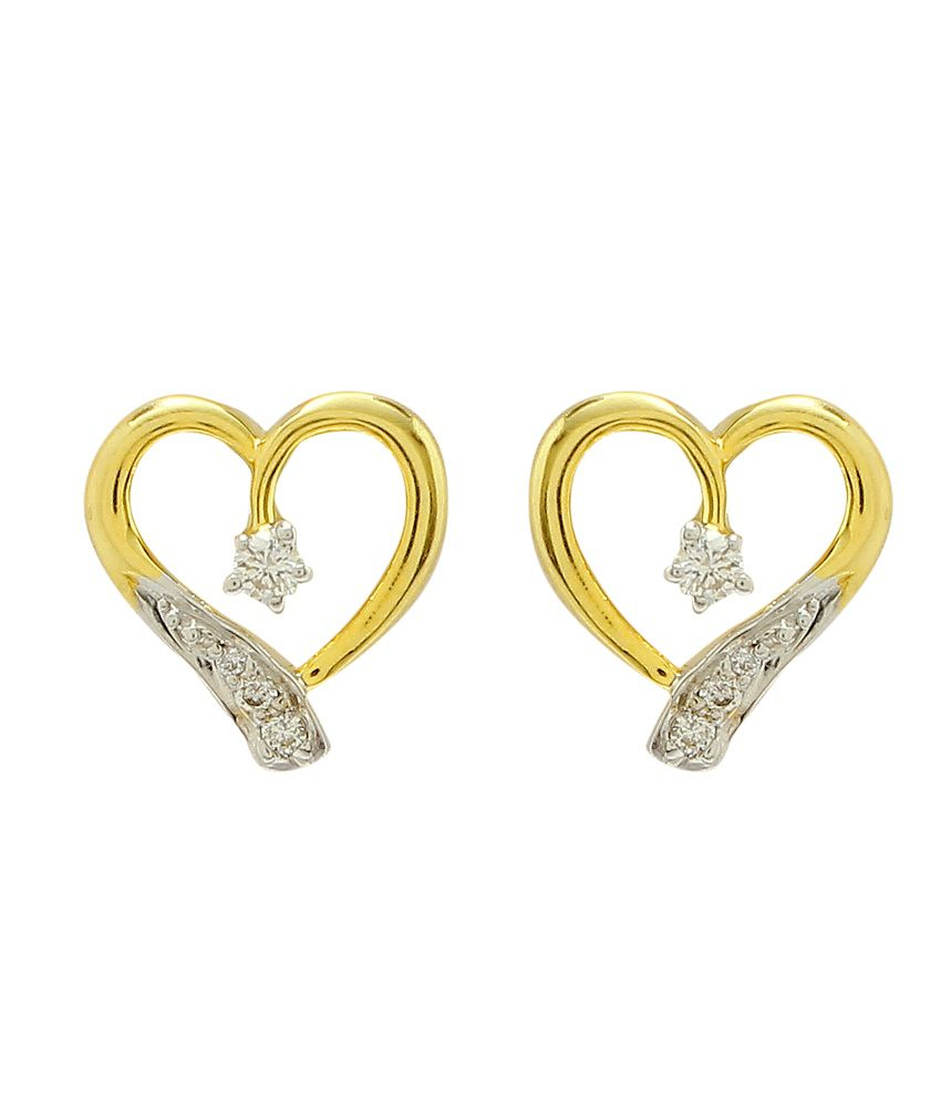 Happy Gems & Jewellers 18kt Gold Studs
