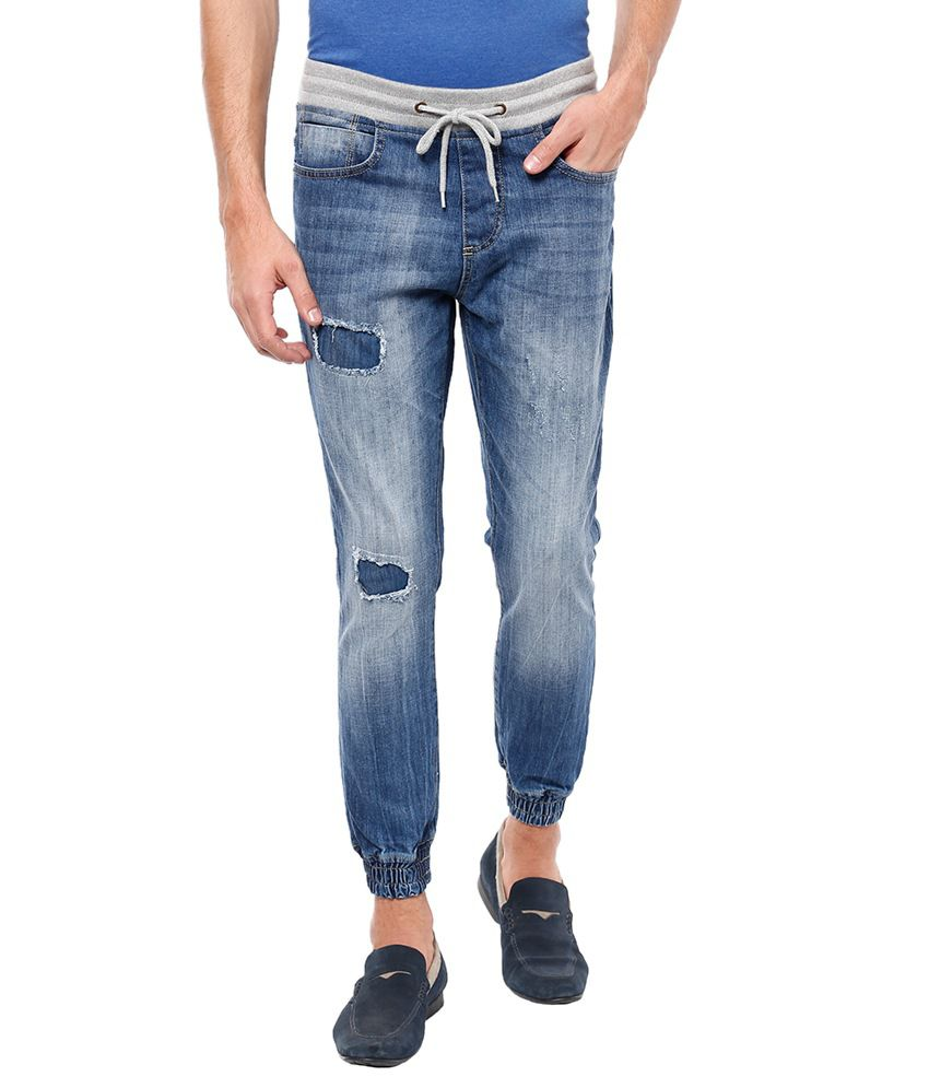 Locomotive Blue Slim Fit Denim Joggers