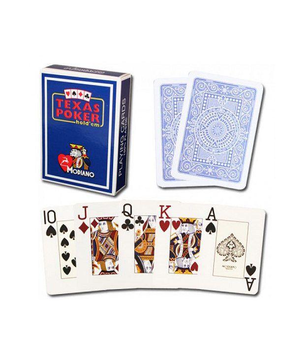 Modiano Texas Poker Jumbo - Blue