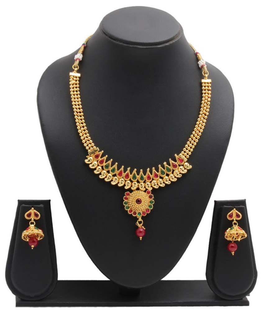 Party Queen Multicolour Alloy Choker Necklace Set