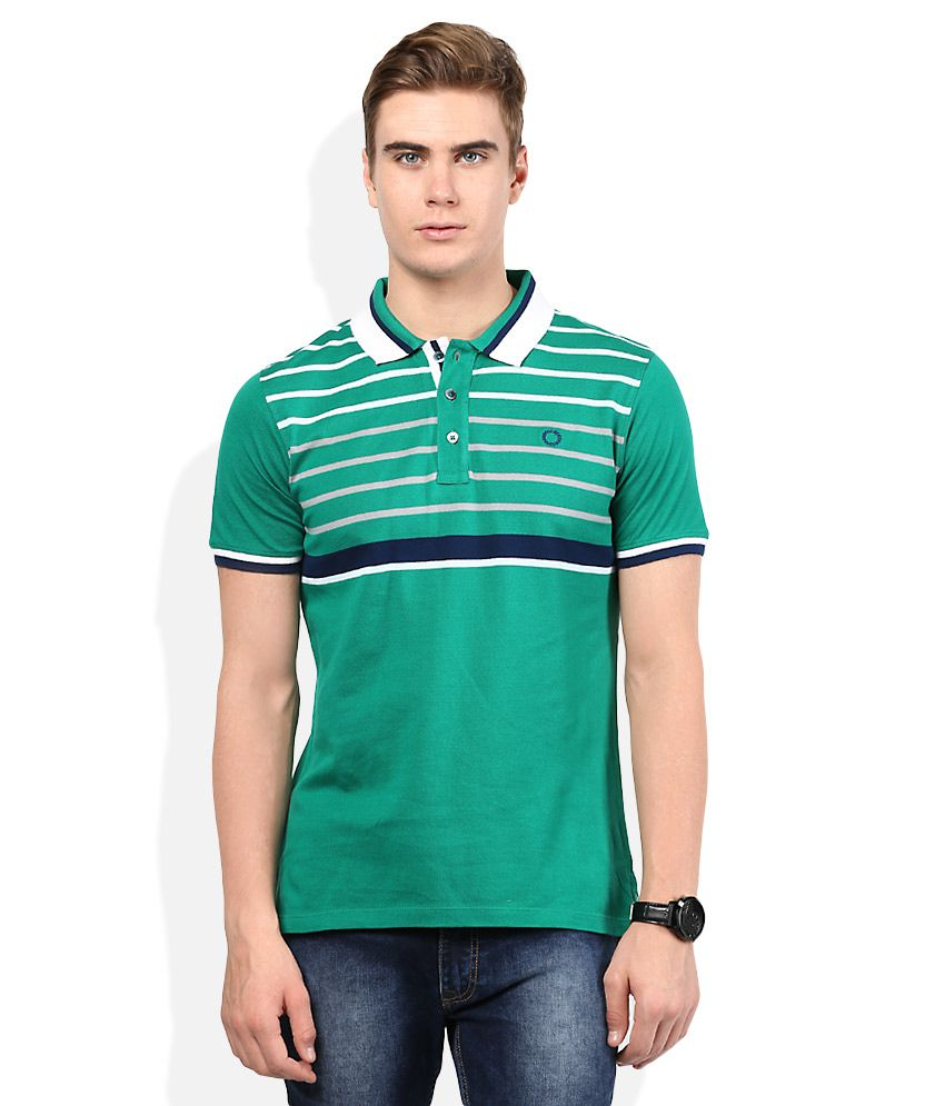 Proline Green Solid Polo T Shirt