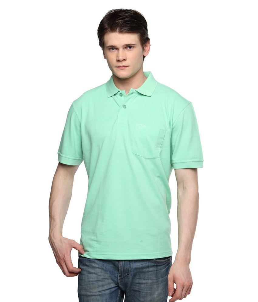 Tempt Green Half Sleeves Basics Polo T-shirts