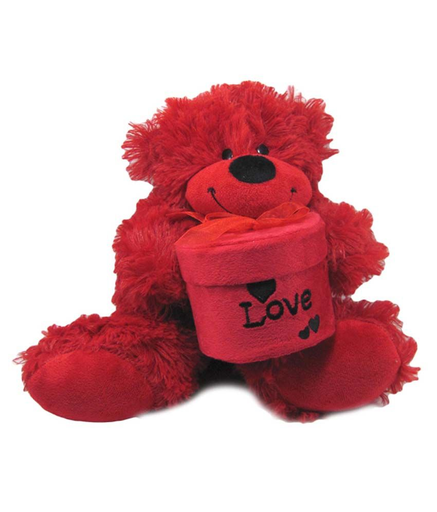 Tickles Red Cloth Teddy With Gift Box In Hand Toy