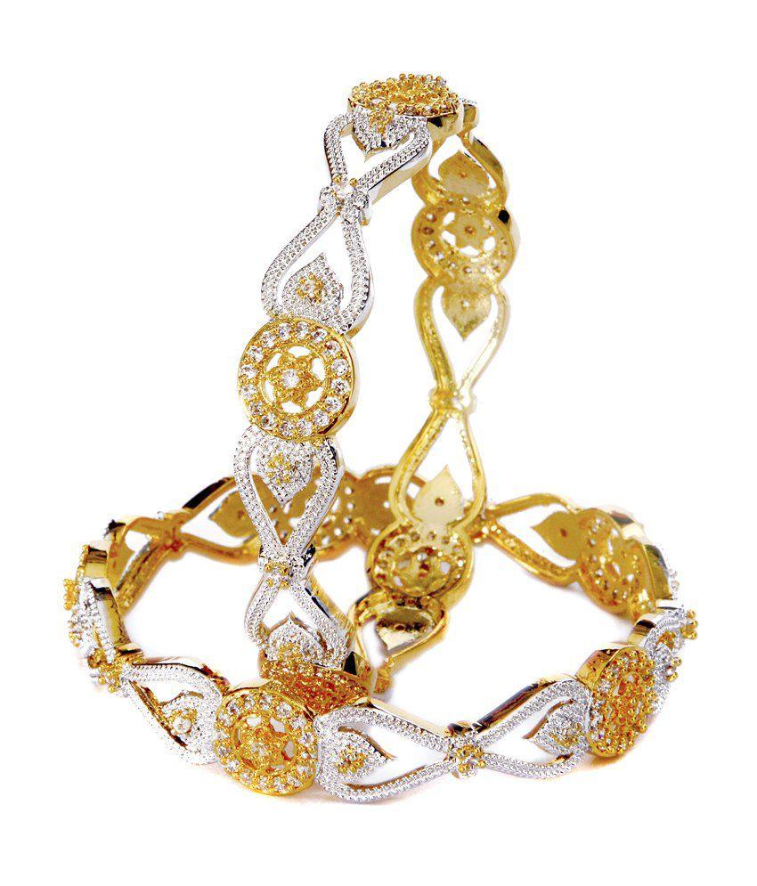 Ashi jewels American Diamond Bangle Set