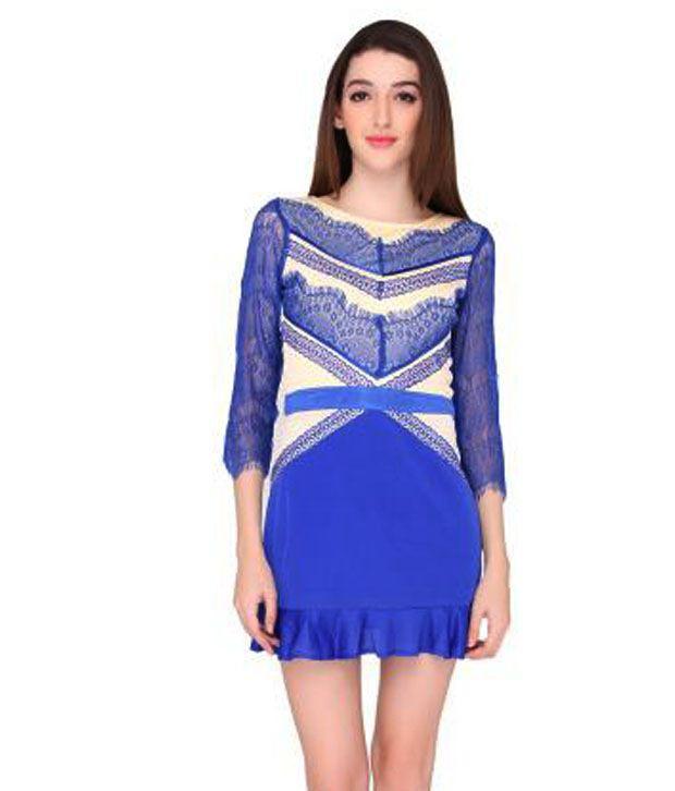Elliana Blue Polyester Dresses