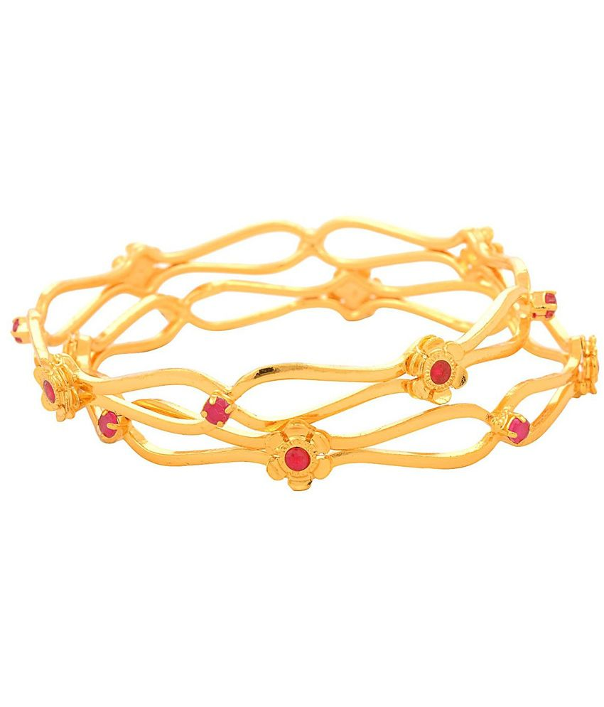 JFL - Jewellery For Less Gold Plated Bangles