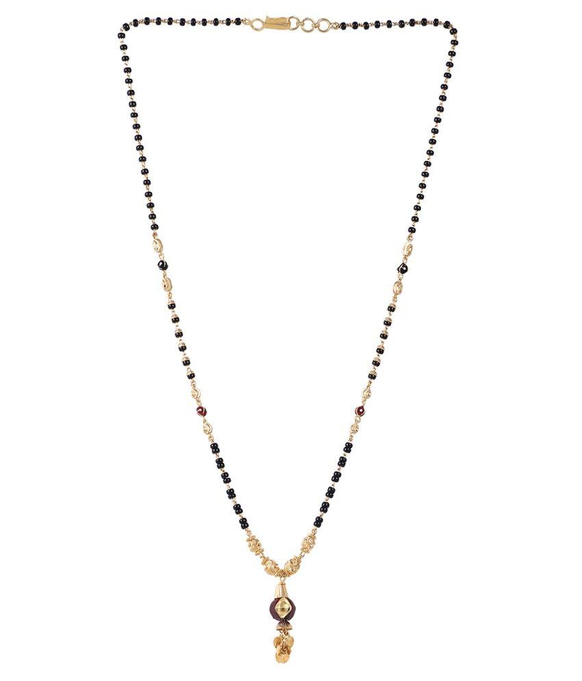 Jisha Golden & Black 18kt Gold Mangalsutra
