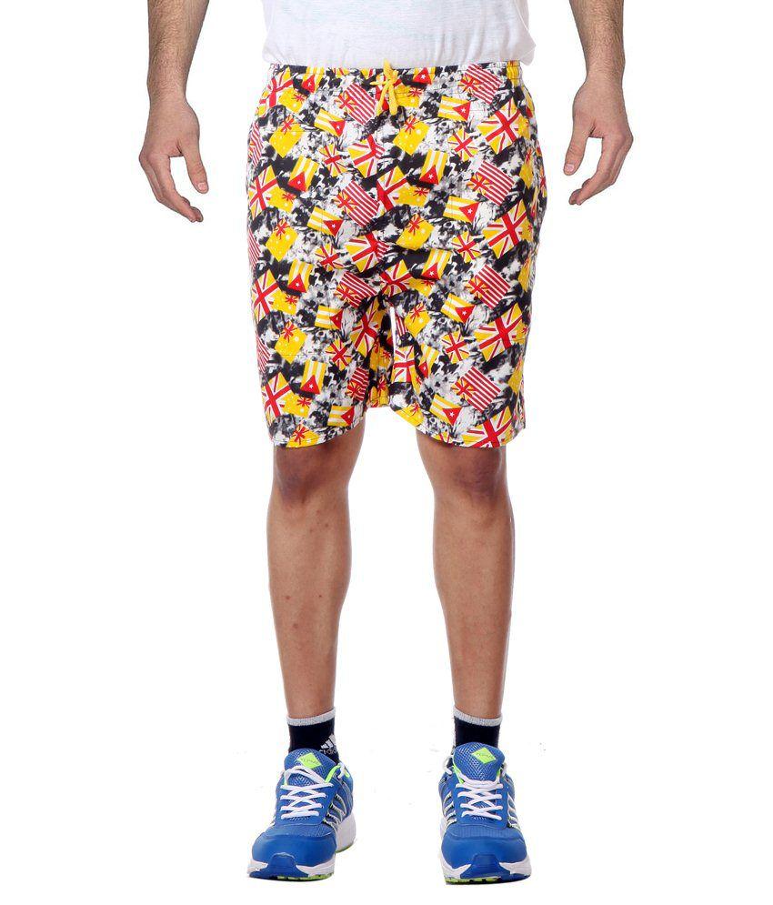 Primodevoir Enterprises Multicolour Polyester Sports Short
