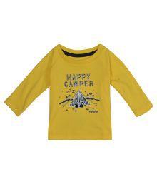 Gini & Jony Yellow Half Sleeves T Shirts