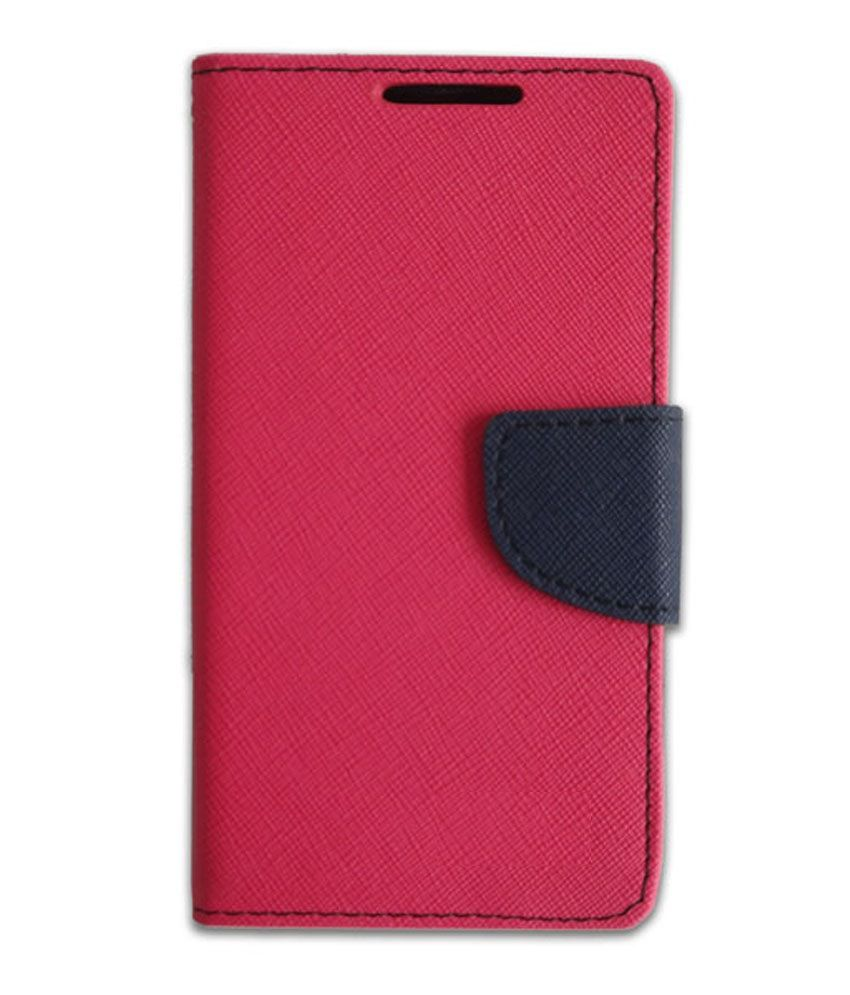Americhome Flip Cover For Nokia X2 - Pink