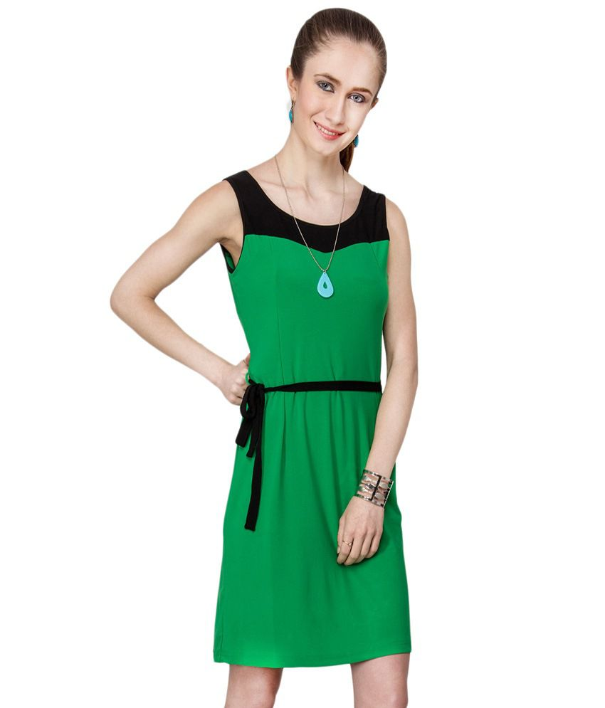 3c9327c52b Kaxiaa Green & Black Casual Dress - Buy Kaxiaa Green & Black Casual Dress  Online at Best Prices in India on Snapdeal